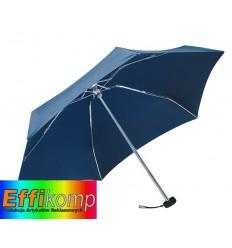 Parasol mini, POCKET, szary/ciemnoniebieski.