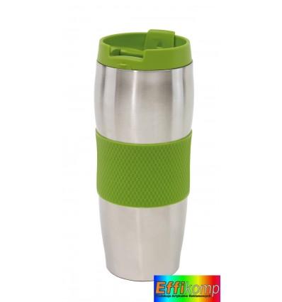 Kubek termiczny, AU LAIT, srebrny/zielony.