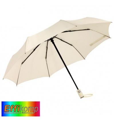 Parasol ORIANA, automatyczny, wiatroodporny, jasnobeżowy.