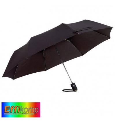 Parasol COVER, automatyczny, wiatroodporny, czarny.