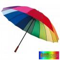 Parasol RAINBOW SKY, automatyczny, wielokolorowy.