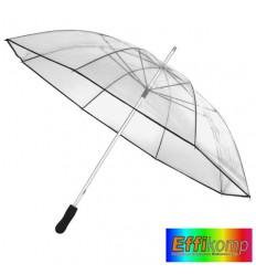 Parasol, OBSERVER, transparentny/czarny.
