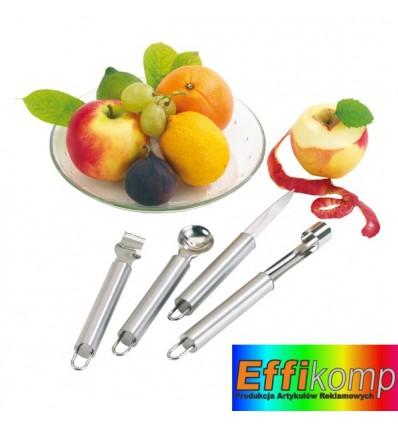 Sztućce do owoców, FRUIT, srebrny.