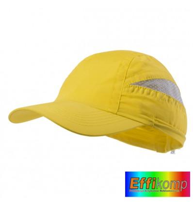 Czapka z siatką mikrofibra, LAIMBUR, żółta.