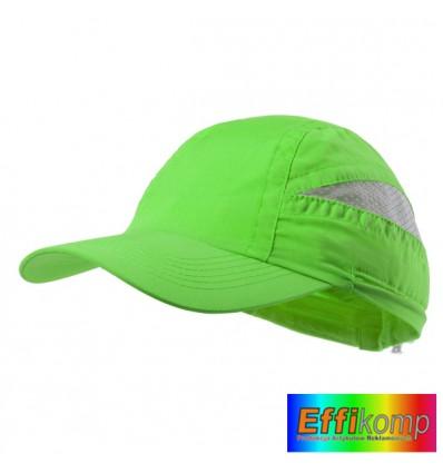 Czapka z siatką mikrofibra, LAIMBUR, zielona.