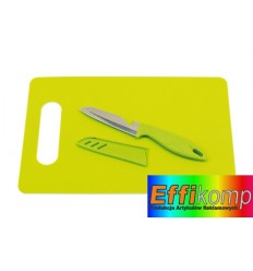 Deska do krojenia z nożem, SUNNY, zielony.