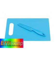 Deska do krojenia z nożem, SUNNY, niebieski.