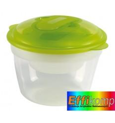 Zestaw pojemników, FRESH AND COLD, transparentny/zielony.