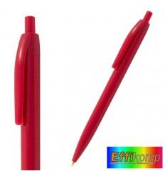Tani długopis plastikowy EXAP2050, czerwony.