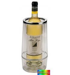 Pojemnik chłodzący do butelek, PARTY, transparentny/srebrny.