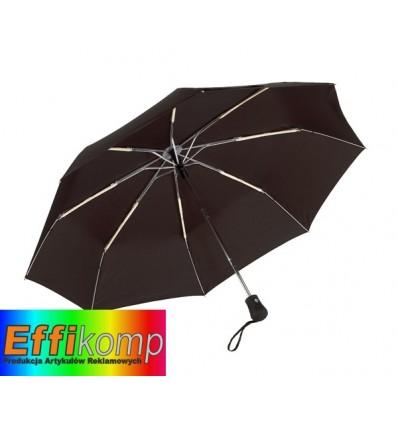 Parasol automatyczny, wiatroodporny, BORA, czarny.