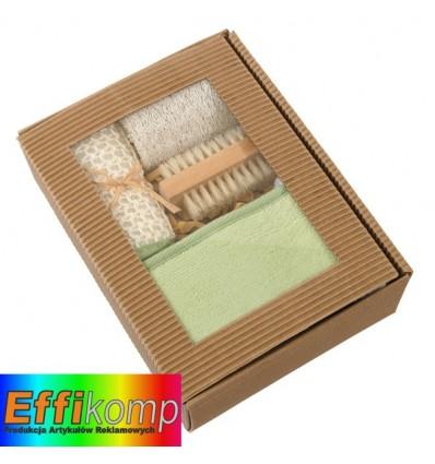 Ekologiczny zestaw do masażu, NATURAL, szary/kremowy.