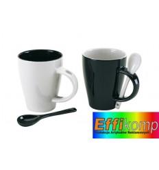 Zestaw do kawy, BLACK & WHITE, czarny/biały.