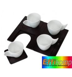 Zestaw kubków do herbaty, INDIVIDUAL, biały/czarny.