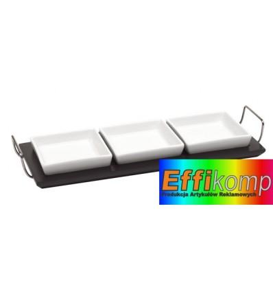 Zestaw stołowy, 4-części, 3 OPTIONS, biały/czarny.