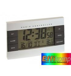 Zegar z ekranem LCD, NO LIMIT, srebrny.