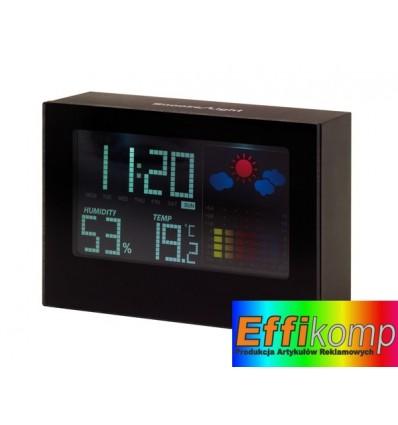 Zegar na biurko z prognozą pogody, COLOUR, czarny.