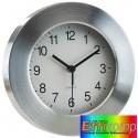 Aluminiowy zegar ścienny  Venus srebrny