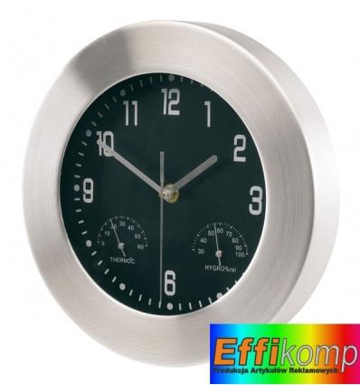 Aluminiowy zegar, JUPITER, srebrny.