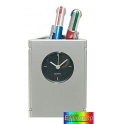 Wielofunkcyjny zegar na biurko, PICTIME, srebrny.