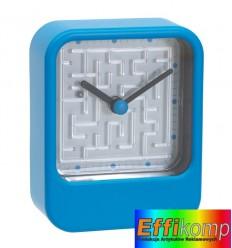Zegar na biurko, MAZE, niebieski.