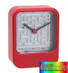 Zegar na biurko, MAZE, czerwony.