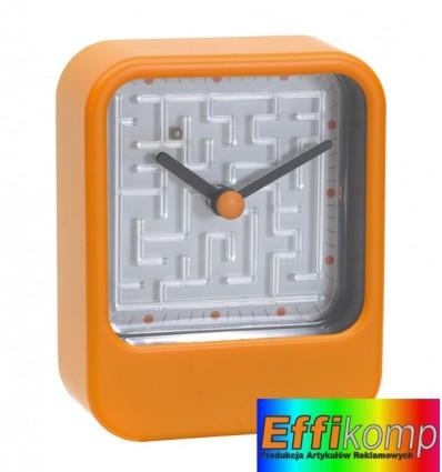 Zegar na biurko, MAZE, pomarańczowy.