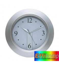 Zegar ścienny, MERCUR, srebrny.