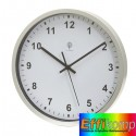 Zegar sterowany radiowo, NEPTUNE, srebrny/biały.