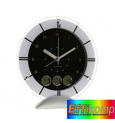 Zegarek na biurko, METEORA, srebrny/czarny.