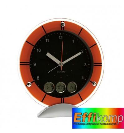 Zegar ścienny z radiem, EXACTLY, pomaraczowy.