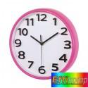 Zegar ścienny, HALLEY, różowy.