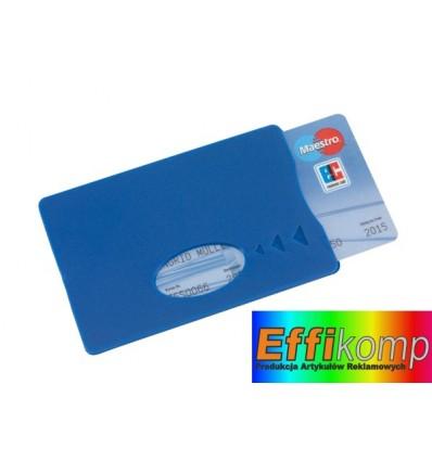 Etui na karte kredytową, SAVER, niebieski.