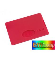Etui na karte kredytową, SAVER, czerwony.