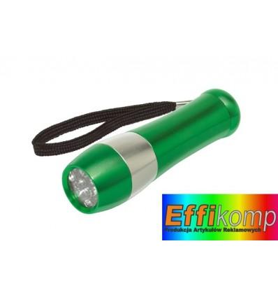 Latarka, 9 diod Led, DARK NIGHT zielony/srebrny.