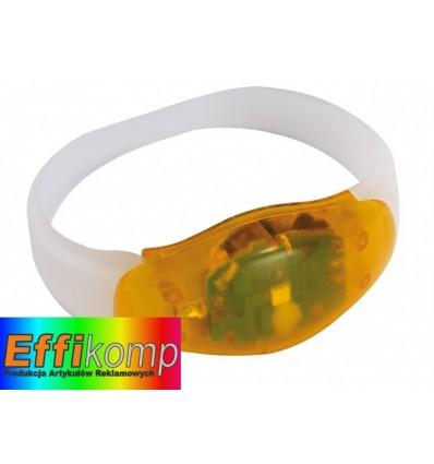 Świecąca opaska na rękę, FESTIVAL, pomarańczowy/transparentny.