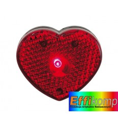 Lampka w kształcie serca, VISIBLE, czerwony.
