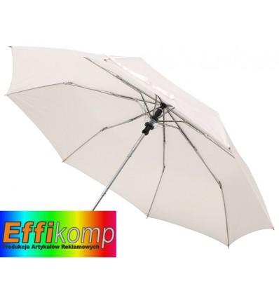 Automatyczny parasol kieszonkowy, PRIMA, biały.