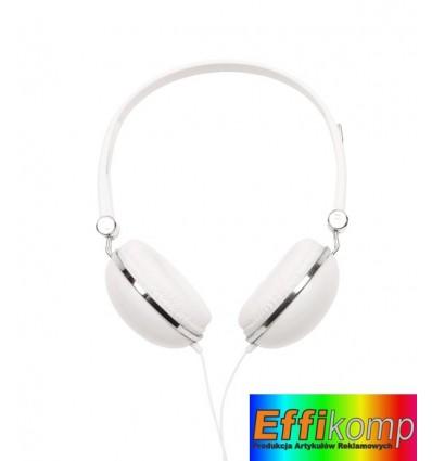 Słuchawki, VOLUME, biały.