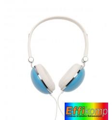 Słuchawki, VOLUME, biały/niebieski.