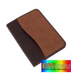 Teczka portfolio, AMBASSADOR, brązowy/czarny.