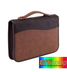 Teczka portfolio, z uchwytem, AMBASSADOR, brązowy/czarny.