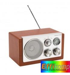 Radio AM/FM, CLASSIC, srebrny/brązowy.