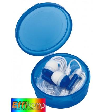 Słuchawki douszne, MUSIC, niebieski.