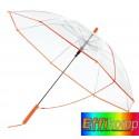 Parasol automatyczny, PANORAMIC, trasparentny/pomrańczowy.