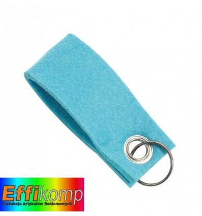 Brelok filcowy, FELT, niebieski.