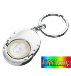 Brelok, 1 EUR HOLDER, srebrny.