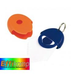 Brelok z chusteczką do okularółw, NEAT, niebieski/pomarańczowy.