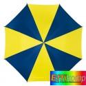Parasol automatyczny, DANCE, niebieski/żółty.