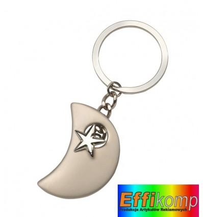 Brelok na klucze, MOONWALK, srebrny.